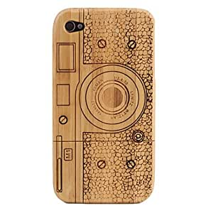Roundness Pattern Wooden Case for iPhone 4 and 4S