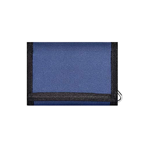 RFID Camo Trifold Wallet Teens Boys Wallets for Kids/Children's Wallet with Magic Sticker - Navy Blue