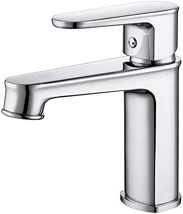 蛇口 シングルハンドル一つの穴の浴室のシンクの蛇口浴室の蛇口浴室船舶のシンクの蛇口トイレの蛇口 洗面水栓 (色 : Silver, Size : Free size)