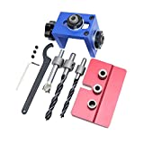 Flameer Jig Pocket Hole Drill Guide Woodwork Joinery Carpentry Drilling Tool Kit