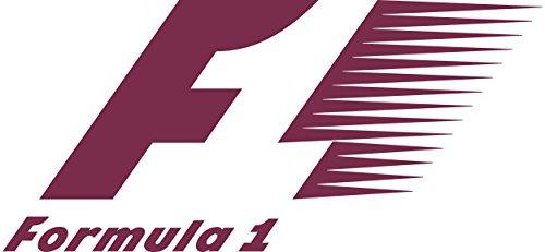 ANGDEST F1 Formula 1 logo (BURGUNDY) Waterproof Vinyl Decal Stickers for Laptop Phone Helmet Car Window Bumper Mug Tuber Cup Door Wall Decoration (Waterproof Formula)