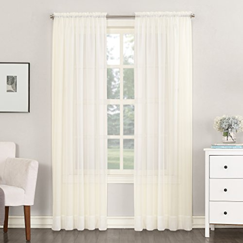 No. 918 Emily Sheer Voile Rod Pocket Curtain Panel, 59