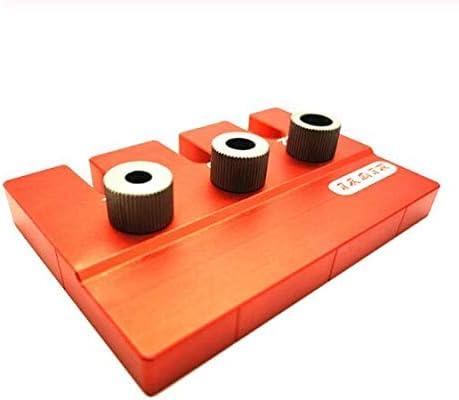 アルミポケット穴ドリルガイドダボジグ+位置決めプレート木工建具ツールセット90×80×78ミリメートル用kreg大工仕事,E