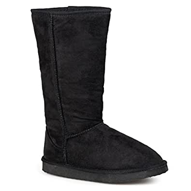 Journee Collection Ladies 12 Inch Faux Suede Boot Black 6
