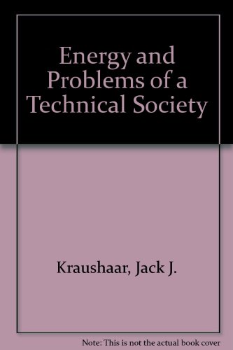Energy and Problems of a Technical Society