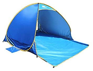 OutdoorsmanLab Automatic Pop Up Beach Tent, Lightweight For Family with UV 50 Protection, Easy Carrying Bag, Wind Resistant Features