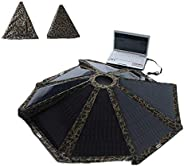 Round Umbrella Solar Panel 40W Folding Solar Charger for Laptop, Smart Phone, Beach, Seashore, Camping Etc by