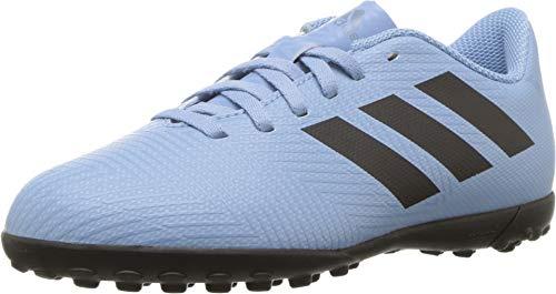 (adidas Kids Unisex Nemeziz Messi Tango 18.4 TF Soccer (Little Kid/Big Kid) Ash Blue/Black/Raw Grey 5 M US Big Kid M)
