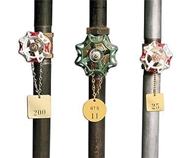 """Brady Blank Valve Tags - Round Brass Tags, 1-1/2"""" Diameter, B-907 (Pack Of 25) - 23210"""