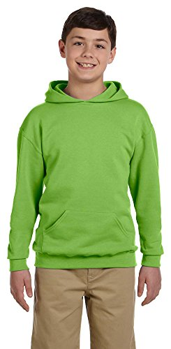 Jerzees Youth 8 oz., 50/50 NuBlend Fleece Pullover Hood, XL, KIWI