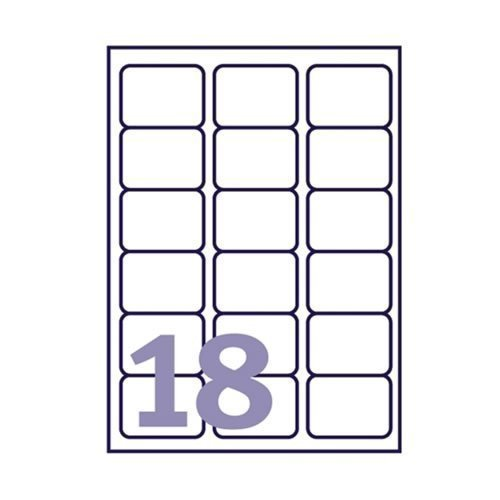 inkjetlaser avery compatible labels 18 per sheet j8161 l7161 100 sheets