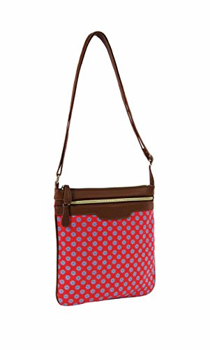 Body Wallflower Cross Dot amp; Bag Designs Shoulder Aztec Daisy Handbag Polka Fuchsia Ladies qZFBa4w