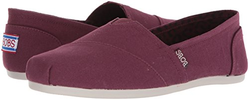 Skechers BOBS from Women's Plush-Peace and Love Ballet Flat, Burgundy, 8.5 M US by Skechers (Image #5)