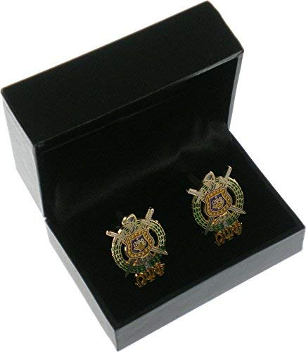 Cultural Exchange Omega Psi Phi Escutcheon Shield Drop Letter Cuff Links [Gold - 1