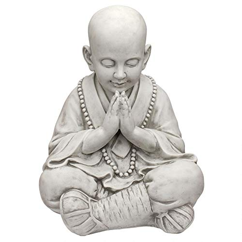 Design Toscano KY47127 Praying Baby Buddha Asian Garden Statue, Antique Stone