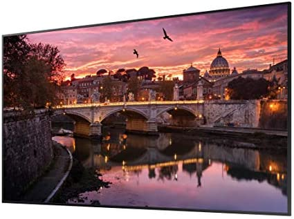 Samsung QB65R 65 inch 4K UHD LED Commercial Signage Display for Business with HDMI, Wi-Fi, 350 nit (LH65QBREBGCXZA), Black