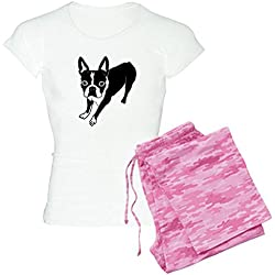 CafePress - Boston Terrier Pajamas - Womens Novelty Cotton Pajama Set, Comfortable PJ Sleepwear