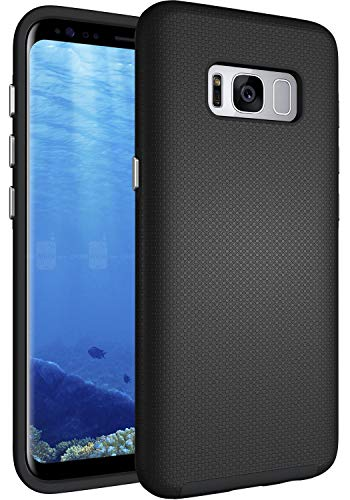 S8 Case, Galaxy S8 Case, OUBA [Dual Layer] Shock Absorption Impact Resistant Armor Rugged Defender Protective Case for Samsung Galaxy S8 - Black