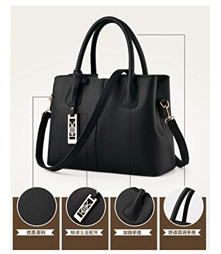 Briefcase FLHT Red Bag Bag Bag Leather Handbag Cosmetics Bag Capacity Fashion Storage Bucket PU Large Bag Female Messenger Shoulder Bag Bag Chain Ladies arwBqxap