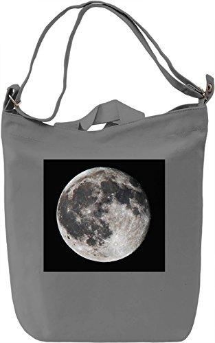 Moon Print Borsa Giornaliera Canvas Canvas Day Bag  100% Premium Cotton Canvas  DTG Printing 