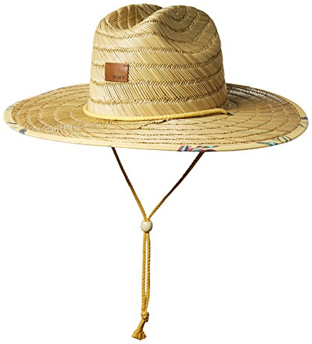 Roxy Junior's Tomboy Straw Hat, Buff Yellow Swim Stormy Flower, M/L by Roxy
