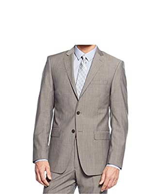 Calvin Klein Taupe Neat Two Button Wool New Men's Sport Coat