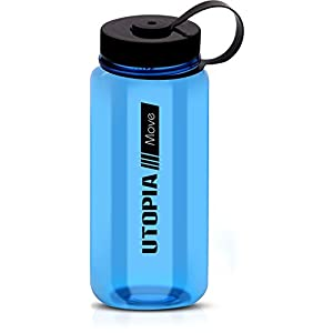 Wide Mouth Tritan Water Sports Bottle - BPA-Free and Dishwasher Safe - 30 Ounce Ample Capacity - High Impact Resistance - by Utopia Home