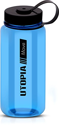 Wide Mouth Tritan Basic Water Bottle - BPA-Free and Dishwasher Safe - 30 Ounce Ample Capacity - High Impact Resistance Sports Bottle - by Utopia Home