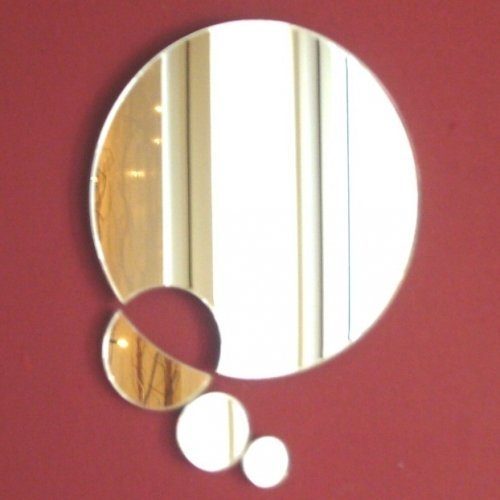 Circle Chain Mirrors - 12cm Large & 3 Small Circles Super Cool Creations