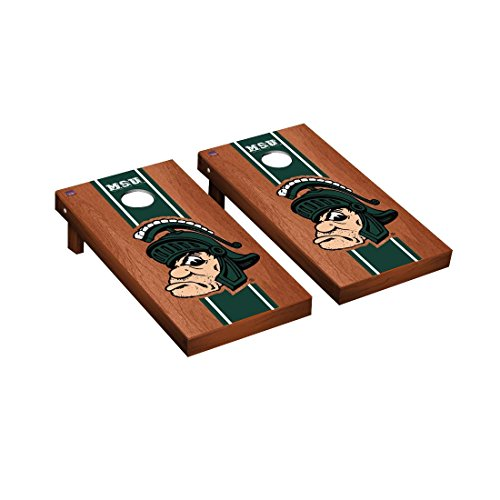- College Vault Michigan State Spartans Cornhole Game Set Rosewood Stained Stripe Version
