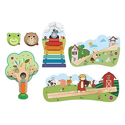 ORIBEL Sing-A-Long Combo (Musical Rail Track, Old Macdonald, Jack & Jill, Croakky Door Knocker, Spikkey Door Knocker, Busy Woodpecker): Toys & Games