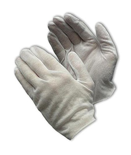 CleanTeam 97-511 Economy, Light Weight Cotton Lisle/Polyester Inspection Glove with Unhemmed Cuff, Ladies by CleanTeam