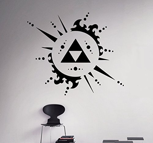 Cheap  Zelda Triforce Wall Decal Classic Game Vinyl Sticker Princess Zelda Home Interior..