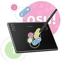 Huion Inspiroy H430P - Tablet gráfica de Dibujo para OSU Signature Pad - Marcador con 4 Teclas Cortadas (Incluye bolígrafo de presión, 4096 Unidades)