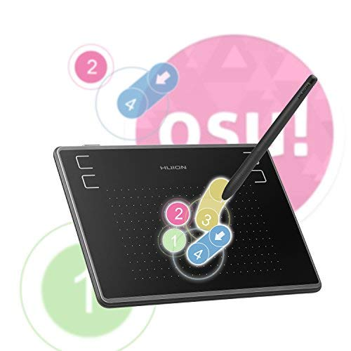 Huion Inspiroy H430P Graphics Drawing Tablet for OSU! Signature Pad with Battery-Free Pen 4096 Pen Pressure 4 Shortcut Keys
