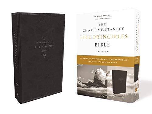 KJV, Charles F. Stanley Life Principles Bible, 2nd Edition, Leathersoft, Black, Comfort Print: Growing in Knowledge and Understanding of God Through His Word (7 Gifts Of The Holy Spirit Understanding)