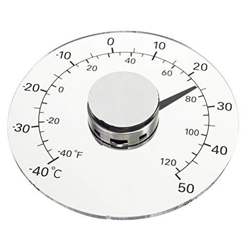 Stick On Window Thermometer Temperature Indoor/Outdoor Waterproof Dial Round 4.3 Inch Diameter