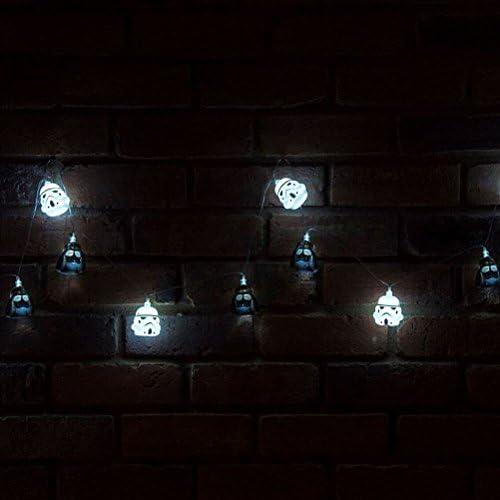 Star Wars Darth Vader /& Stormtrooper 3D 2.5m String Fairy Lights Official Merch