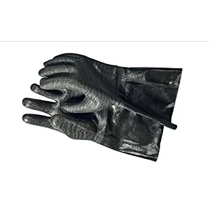 The Pit Glove Insulated waterproof / oil & heat resistant BBQ, Smoker, Grill, and Cooking Gloves. Great for barbecue & grilling -excellent gift -1 pair (14 Inch)