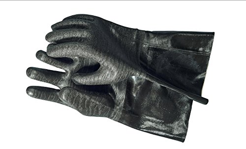 The Pit Glove Insulated waterproof / oil & heat resistant BBQ, Smoker, Grill, and Cooking Gloves. Great for barbecue & grilling -excellent gift -1 pair (14 Inch) (Barbecue Grilling)
