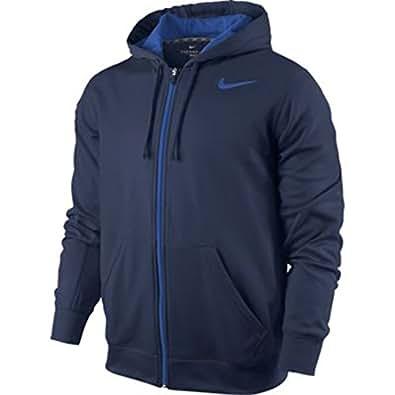 Nike Men's KO Full Zip Training Hoodie, Royal, XXL