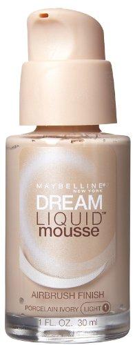 Maybelline Dream Liquid Mousse Airbrush Foundation, Porcelain Ivory, Light [1], 1 oz (Pack of 2)