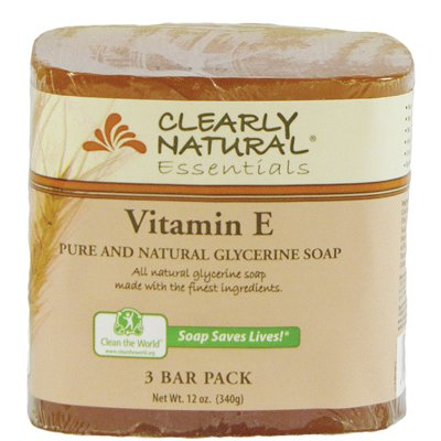 Bar Soap- Vitamin E 4 Ounces (3 Bar (Clearly Natural Bar Soap)