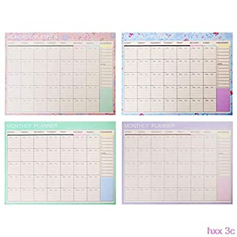photo about Diy Planner Organizer titled : Fresh Every month Paper Pad 20 Sheets Do it yourself Planner Table