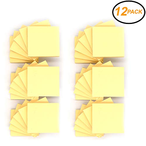 - Emraw Sticky Notes Stick It Stickies, Plain Canary Yellow Small 3