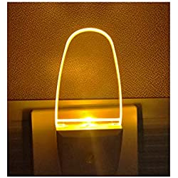 4 Pack Plug in LED Night Light Lamp with Dusk to Dawn Sensor, Amber Yellow