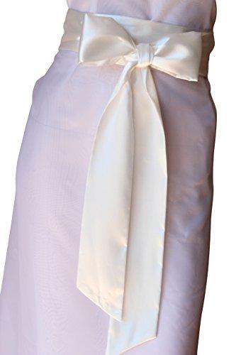 SASH Bridal Satin Sash Ivory Belt (Ivory Bridal Satin)