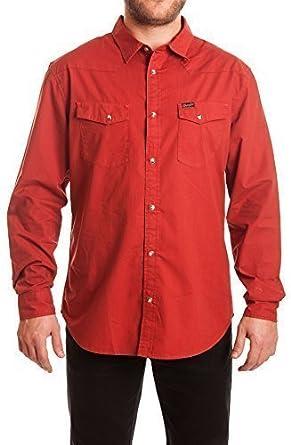 Wrangler L/S Heritage Western Shirt Regular Fit Camisa, U8U Red Ochre, 2XL para Hombre: Amazon.es: Ropa y accesorios