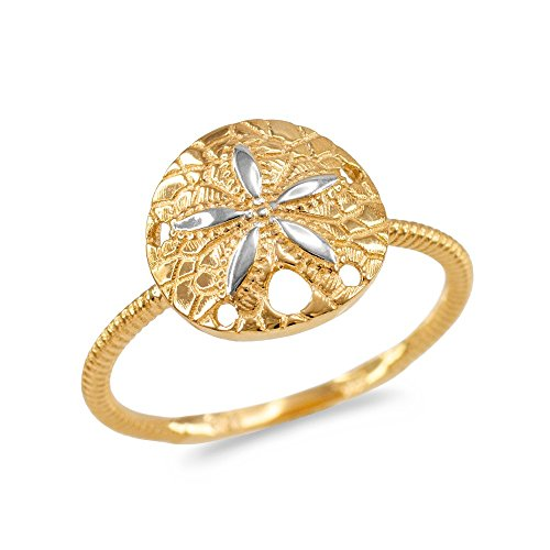 Rope Two Tone Ring - 6