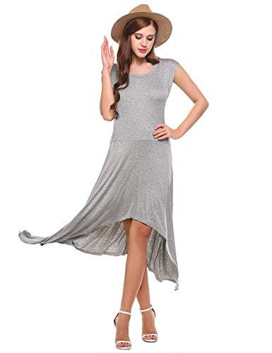 Jersey kleid grau lang